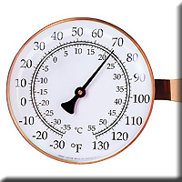 Vermont Lg Dial Thermometer Copper