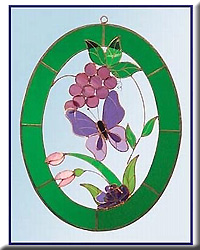 Grapes and Butterfly 3D Window