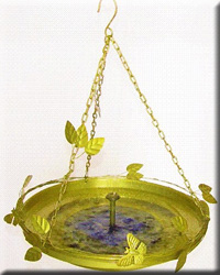Bird Bath Lg with Butterfly Mister Yellow
