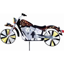 Motorcycle Wind Spinner with Flames