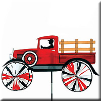 Old Time Truck Spinner Red