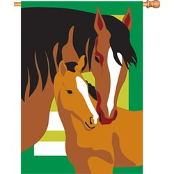 Mare and Foal House Flag